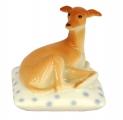 Italian Grayhound Dog on Spotted Pillow Lomonosov Porcelain Figurine