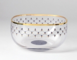 Lomonosov Imperial Glass Bowl for Nuts Cobalt Net 60.9 oz/1800 ml