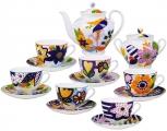 Lomonosov Imperial Porcelain Bona China Tea Set 6/14 Summer Bouquet