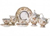 Lomonosov Imperial Porcelain Bona China Tea Set Natasha Fantastic Butterflies