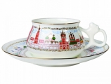 Lomonosov Imperial Porcelain Bone China Cup and Saucer Bilibina Golden Domes