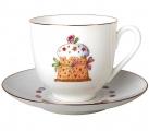 Lomonosov Imperial Porcelain Bone China Cup and Saucer Easter Cake