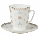 Lomonosov Imperial Bone China Cup and Saucer May Flower Waltz 5.6 fl.oz/165 ml 2 pc