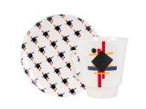 Lomonosov Porcelain Bone China Cup and Saucer May Ornament 5.6 fl.oz 165 ml 2 pc