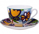 Lomonosov Imperial Porcelain Bone China Tea Set 2 pc Bouquet for Catherine Spring-2