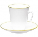 Lomonosov Imperial Porcelain Cup and Saucer May Golden Edge