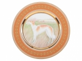 Lomonosov Porcelain Decorative Wall Plate Borzoi Greyhound