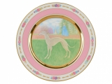 Lomonosov Porcelain Decorative Wall Plate Italian Greyhound