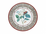 "Lomonosov Porcelain Decorative Wall Plate Sweet Raspberry 10.6""/270 mm"