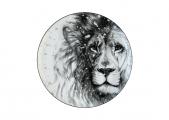 Lomonosov Porcelain Decorative Wall Plate Totem Animal Lion 9.1 in 230 mm