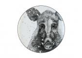 "Lomonosov Porcelain Decorative Wall Plate Totem Animal WILD BOAR 9.1""/230 mm"