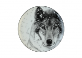 Lomonosov Porcelain Decorative Wall Plate Totem Animal WOLF 9.1 in 230 mm