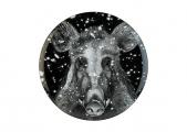Lomonosov Porcelain Decorative Wall Plate Totem Animal Wild Boar 11.8 in 300 mm