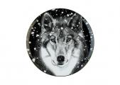 Lomonosov Porcelain Decorative Wall Plate Totem Animal Wolf 11.8 in 300 mm