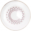 Lomonosov Imperial Porcelain Dessert Plate Pink Net Wave 5.9 inches/150 mm