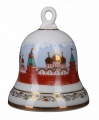 Lomonosov Imperial Porcelain Dinner Bell Moscow Kremlin Churches