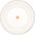 """Lomonosov Imperial Porcelain Dinner Plate Azur Golden 7.9""""/200 mm"""