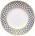 "Lomonosov Imperial Porcelain Dinner Plate Cobalt Net Flat  9.4""/240 mm"