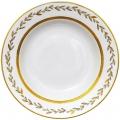 """Lomonosov Imperial Porcelain Dinner Plate European Jade Background Flat 8.7""""/220mm"""