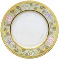 """Lomonosov Imperial Porcelain Dinner Plate European Jade Background Flat 10.4""""/265 mm"""