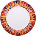 """Lomonosov Imperial Porcelain Dinner Plate Flame Flower 10.6""""/270 mm"""