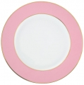 Lomonosov Porcelain Dinner Plate Frosty Fairytale Pink