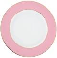 Lomonosov Porcelain Dinner Plate Frosty Fairytale Pink