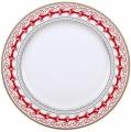 """Lomonosov Imperial Porcelain Dinner Plate Red Reindeer 8.5""""/215 mm"""