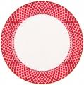 Lomonosov Imperial Porcelain Dinner Plate Scarlet v.1 10.6 in 270 mm