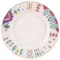 Lomonosov Imperial Porcelain Dinner Plate Peacock's Feather