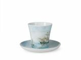 Lomonosov Porcelain Mug Sailing Vessel Brig Leningradskii-2 12.2 fl.oz 360 ml