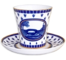 Lomonosov Imperial Porcelain Mug Swan Bridge Leningradskii-2 12.2 fl.oz/360 ml