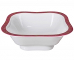 Lomonosov Imperial Porcelain Salad Bowl Red Net (2 serv.) 12 oz / 350 ml