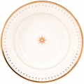 "Lomonosov Imperial Porcelain Soup Dinner Plate Azur Golden 9.3""/235 mm"
