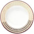 "Lomonosov Imperial Porcelain Soup Plate European Moscow River 8.9""/ 225 mm"
