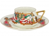 Lomonosov Imperial Porcelain Tea Cup Set 2 pc Bilibina Magic Birds 6 oz/180 ml