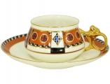 Lomonosov Imperial Porcelain Tea Cup and Saucer Bilibina Vasilisa Fairytale 6 oz/180 ml