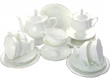 Lomonosov Imperial Porcelain Tea Set Service Natasha Golden Ribbon 20 pc