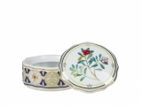 Lomonosov Porcelain Treasure Jewellery Round Box Foxberry