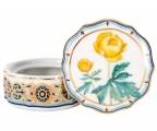 Lomonosov Porcelain Treasure Jewellery Round Box Trollius
