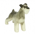 Miniature Schnauzer Dog Standing Lomonosov Porcelain Figurine
