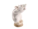 Mouse on Stand Gray Lomonosov Porcelain Figurine