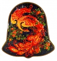 Black Tea 5.3 oz/150 gr in Metal Bell Box Palekh Painting Magic FIRE-BIRD