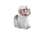 Pekingese Dog White Colored Lomonosov Figurine