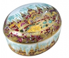 Lomonosov Imperial Porcelain Treasure Jewellery Oval Box CGolden Spring