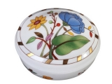 Lomonosov Imperial Porcelain Treasure Jewellery Oval Box Peony