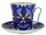 Lomonosov Imperial Porcelain Mug and Saucer Helicopter Leningradskii 12.2 fl.oz/360 ml