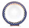 Lomonosov Imperial Porcelain Round Ashtray Cobalt Net