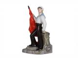 Sailor with Banner Lomonosov Porcelain Figurine Soviet Propaganda
