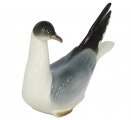 Seagull Black-headed Bird Lomonosov Imperial Porcelain Figurine